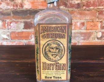 1910s Rare American Gordon Glass Bottle