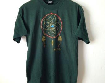 Vintage Sedona Arizona Dreamcatcher Forrest Green 50/50 T-Shirt - Size Medium/Large - Made in USA