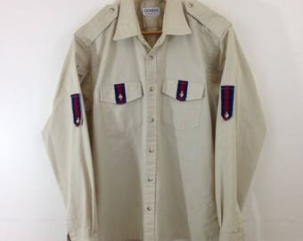 Vintage Gokeys Swiss Hiking Shirt by Norman Shirtmakers - Size Large