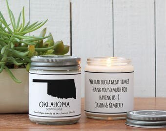 Oklahoma Scented Candle - Homesick Gift | Feeling Homesick | State Scented Candle | Moving Gift | College Student Gift | Oklahoma Lover