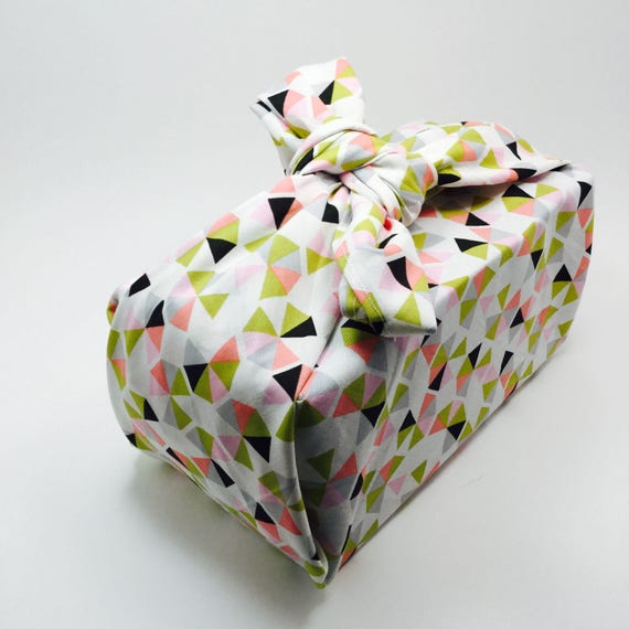 Furoshiki Gift Wrapping Cloth - Japanese Cotton Furoshiki - Desert Rose Design by Kendo Girl