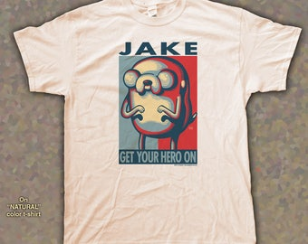 "JAKE ""HOPE"" style T-Shirts - pre shrunk 100% Cotton short sleeve t-shirt - Adventure Time! - Jake the Dog"