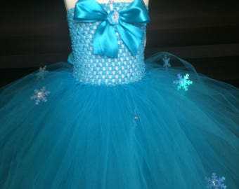 """The snow Queen"" tutu dress girls 2/3 years, knee length"