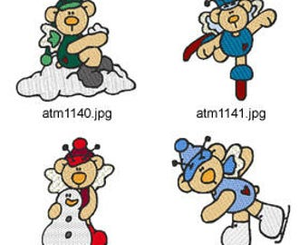 Winter-Butterfly-Bears  (  7 Machine Embroidery Designs from ATW ) XYZ17E