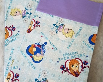 Frozen Pillowcase-Pillowcase made from Disney Frozen Strong Bond Strong Heart- Disney Pillowcase-Childrens Pillowcase
