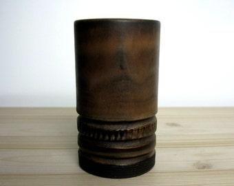 "Scandinavian Modern / Stoneware Vase / by Irma Yourstone / Artist Signed / JY / Studio Art / Scandinavian Design / Hand Thrown/ 5 1/4"" / 60s"
