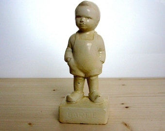 Mid Century / Dutch / Chalkware Sculpture / Bartje / Boy / Plaster Figurine / Antique / Chalkware / Country Home / Shabby Chic/ Rustic Decor