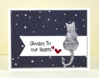 Cat Sympathy Card, Cat Sympathy, Pet Sympathy, Pet Loss, Loss of Pet Card
