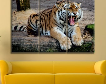 Tiger Canvas Print Wall Art Multi Panel Tiger Wall Decor Tiger Print Tiger Poster Wall Art Tiger Canvas Art Animal Canvas Wild Animal Canvas