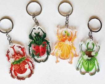Fruit Beetle Keychains