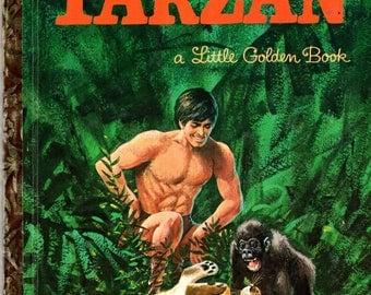 TARZAN Little Golden Book #549 Hardcover 1964