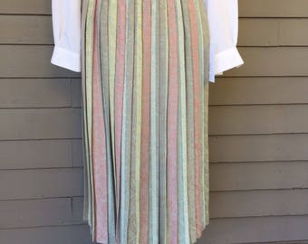 Pastel Floral Jacquard Pleated Skirt by Asher Size Small Medium | Pastel | Year Round Skirt | 1980s 1990s
