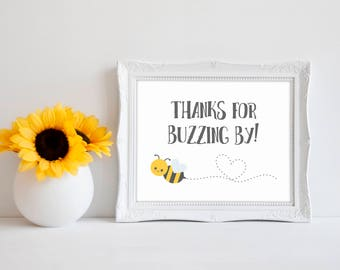 "Thanks For Buzzing By 8""x10"" Bee Baby Shower Decorations 
