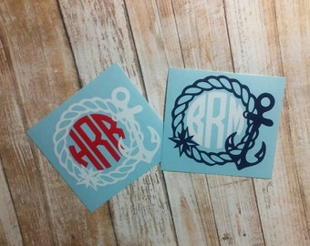 Anchor Initial Decal/ Anchor Rope Decal/ Anchor Rope Sticker/Anchor Rope /Anchor Decal/Rope Decal/Anchor Monogram/Rope Monogram/Vine Font