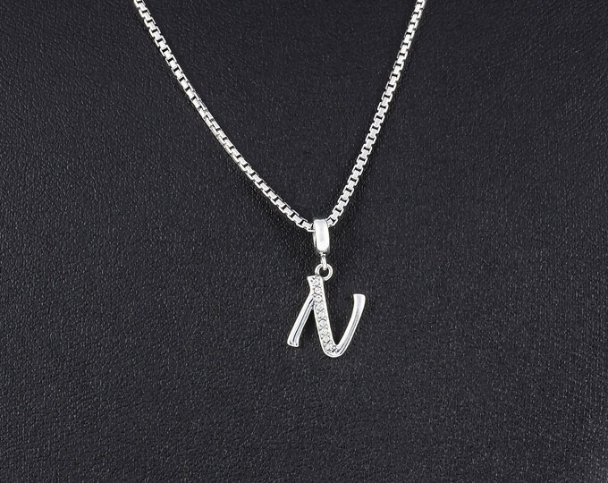 Letter N Initial Pendant Charm, Silver Personalzed Jewelry, Initial Charm N, Girls Necklace Pendant Charm, Letter Jewelry, Alphabet Charm