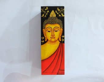 Wooden Hand Painted Buddha Box (Large)