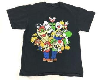 Vintage Super Mario World T-Shirt Men Women / Super Mario Shirt / Mario Bros T / Super Nintendo Game Shirt / Nintendo Clothing 90s T-shirts