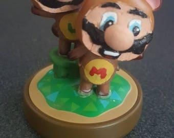Custom Mario and Luigi Tanooki Amiibo