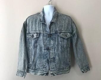 Vintage Men's Levi's Acid Wash Jean Trucker Jacket Small