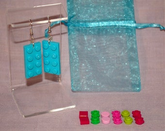 LEGO Design Your Own Earrings - Teal