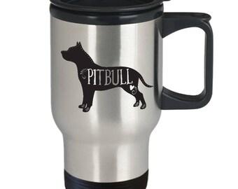 Pitbull Travel Mug, Pitbull Coffee Cup, I Love My Pitbull