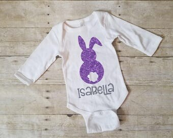 Bunny Tail Shirt, My 1st Easter Onesie, Personalized Easter Shirt, Easter Bunny Shirt, Girls Easter Shirt, Baby Girl Easter Shirt