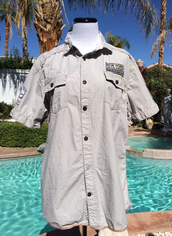 Buffalo David Bitton stone color 100% cotton shirt,size large.