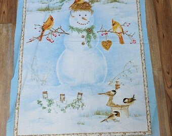 A Winter Song Panel Cotton Fabric by Jane's Garden for Henry Glass