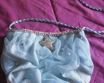 ARETUSA Organza and Alcantara shoulder bag