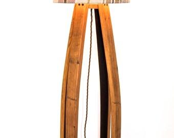 Oak, Scotch Whisky Barrel Floor Lamp