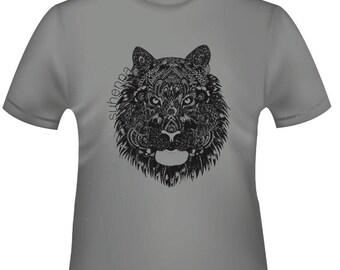 henna tiger t-shirt