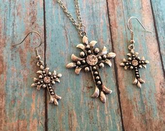 Southwest Boho Pendant/Necklace with Earrings, Pendant/Necklace, Southwest Jewelry, Boho Jewelry, Boho Necklace, Southwestern Necklace