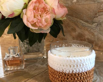 Glitter candle cozy for Bath & Body Works candles in copper and white!