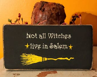 Halloween Decor-Witch decor-Halloween witch decor-Halloween sign-Halloween wall art-Salem witch-Halloween witch saying-Wicca sign-Wiccan