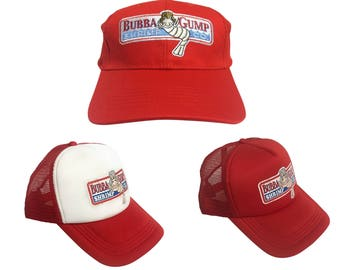 PICK a STYLE Bubba Gump Shrimp Co. Hats As Forrest Gump Wears In Movie Baseball Trucker Cap Costume Company Forest Run Running Boat Captain
