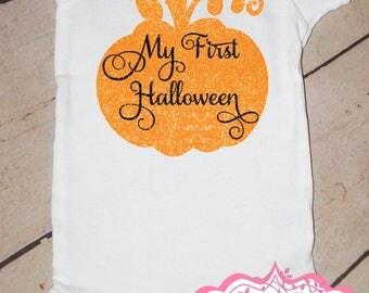My First Halloween Pumpkin Onesie
