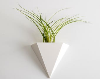 Fuze Hanging Planter, 3D printed, Air Plants, Triangular Shape, Succulents Planter, Modern Home, Minimal Design, Wall Planter, Gift