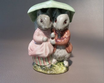 Royal Albert Pottery, Beatrix Potter, Goody and Timmy, Tiptoes, based on the book The Tale of Timmy Tiptoes