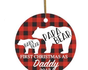 First Christmas Daddy Ornament, Papa Bear ornament, New Dad Ornament, Ornament for Dad, New Dad Gift, Christmas Ornament for Dad, Xmas