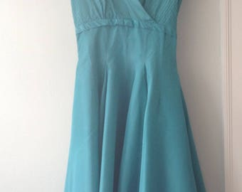 Dance Originals by Fred Perlberg 1950s Vintage Turquoise Taffeta