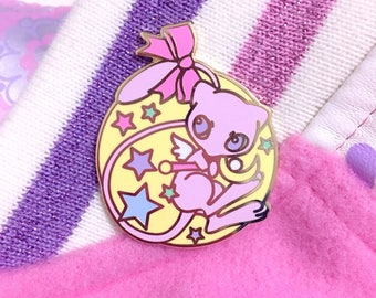 Sailor Mew - Sailor Moon & Pokemon Inspired - Hard Enamel Lapel Pin 35mm Lapel Pin - Gold Plating