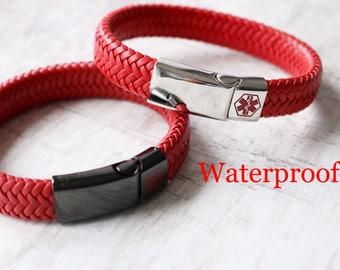 Medical Alert Bracelet - Medical ID Bracelet - Various Sizes Available