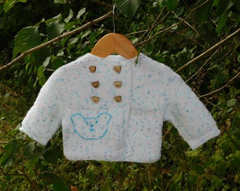 Vest or jacket size 6 months blue and white