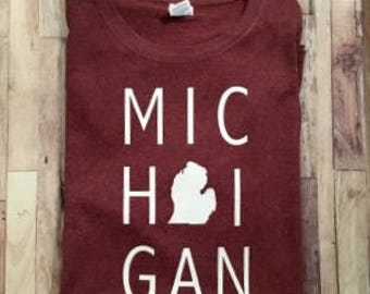 MICHIGAN Silhouette - Adult Shirt - Customize Any State