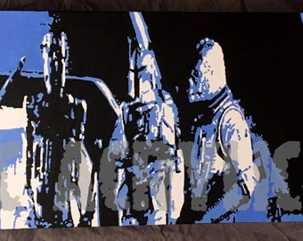 Bounty Hunters from Star Wars 12x36 acrylic painting