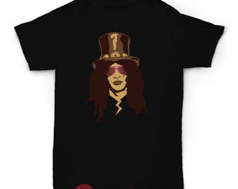 Slash Tshirt, Rockstar Tshirt, Guns and Roses, ACDC, Positive Tshirt, Apparel, Streetwear, Rock, Rock On, Indie, Skater, Vintage