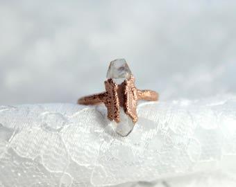 Quartz | Electroformed Copper Ring