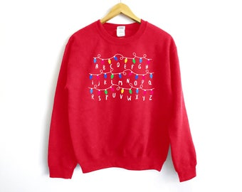 Stranger Things Christmas Sweater - Stranger Things Sweater - Christmas Sweater - Christmas Movie Sweater - Eleven - Barb - Stranger Things