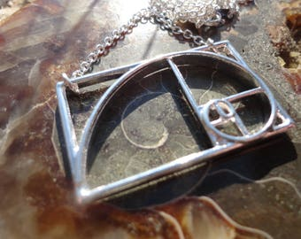 """necklace """"the golden ratio"""", silver color"""