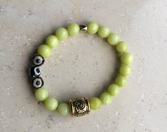 Lime Green Jade Bracelet